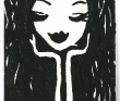 アイバカヨコ 人物、女性、布と糸、かわいい、ウェディング、ミシン、刺繍とコラージュで描く。