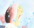 古川じゅんこ 小説、挿絵、人物、風景、柔らかい、色鉛筆、水彩。