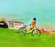 ヒラノトシユキ 風景。書籍、広告、雑誌、web。装画コンペvol.9準グランプリ。