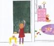 今井未知 透明水彩、子供、お菓子、花・植物、食べ物。