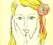 唐津のり子 女性、花と植物、ロンドン、ユング心理学、銅版画。装画コンペvol.8名久井直子賞。