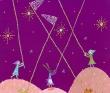 夜空の星のビーズ採集