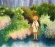 松林佳都子 水彩、子ども、少女、猫、小鳥、花、植物、装画コンペ。