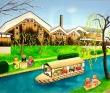 松岡愛子 クマ、音楽、癒し、ほのぼの、風景、子供、ヨーロッパ、建物。