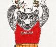 MICAO ミシン刺繍、染色、手刺繍による刺繍イラスト。装画コンペvol.7準グランプリ。