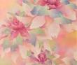 水野温子 花、装画、カレンダー、アクリル絵具、ケント紙、マスキングテープ 。