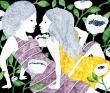 水沢そら 切り絵、少女、少年、花、ファンタジー、紙、顔彩、装画コンペvol.13MAYA賞受賞。