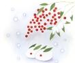 「南天と雪うさぎ」会報誌WALTZ表紙連載2月号
