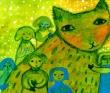 小川惠美子 月、雪、鳥、自然、神、伝承、生きる。装画コンペvol.1坂川栄治賞。