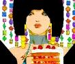 小岐須雅之 鉛筆、色鉛筆、マーカー。少女、女性、ファンタジー、ファッション。