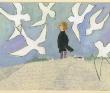長田恵子 文学、物語、少女、少年、老人、銅版画、銅版・水彩絵具・色鉛筆・鉛筆など。