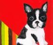 池内梨歩子 犬、動物、和、装画、ユーモラス、不思議、アクリル、カラーインク、色鉛筆。