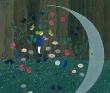 斉藤知子 植物、動物、人物、静か、アクリル絵の具・ホワイトガッシュ。