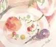 篠原奈穂子 空、山、海、景色、植物、暮らし、食べ物、料理、メルヘン、透明水彩。