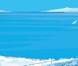 宍戸竜二 海、ブルー、爽やか、鮮やか、風景、心象風景、道路、夜、記憶、旅。