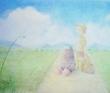 宇野政子 動物、人、風景、ペン、パステル、水彩、色鉛筆、鉛筆。