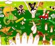 アンヤラット渡辺 装画、挿絵、人物、動物、旅、地図、クレヨン、パステル、Photoshop。