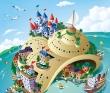 山崎たかし 動物、人物、キャラクター、マップ、旅行、ポップ、かわいい。
