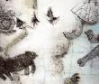 萬丸 風景、歴史、油性インク、色鉛筆、装画コンペvol.17 ミルキィ・イソベ賞。